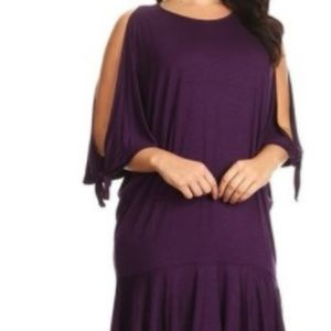 Dresses & Skirts - Cold Shoulder Bat Wing Dress